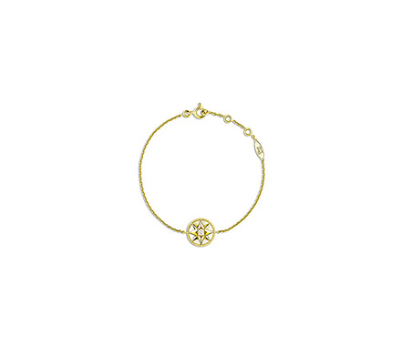 Rose Des Vents Bracelet, 18K Yellow Gold, Diamond & Mother-Of-Pearl